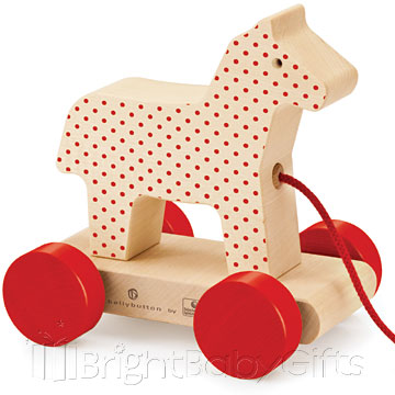 Bellybutton Bellybutton Wooden Pull Along Toy Horse