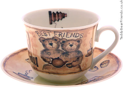 Roy Kirkham Best Friends Bears Cup and Saucer