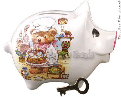 Reutter Porcelain Birthday Piggy Bank