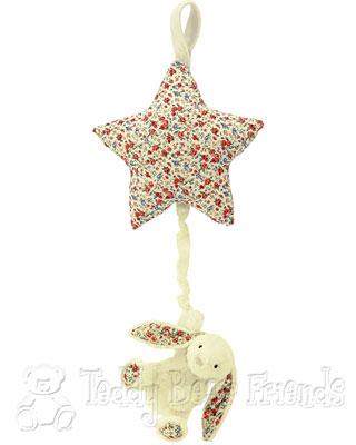Jellykitten Blossom Bashful Bunny Star Musical Pull