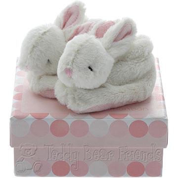 Doudou et Compagnie Bonbon Rabbit Baby Bootees