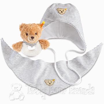 Steiff Baby Boys Sleep Well Bear Grip Toy Gift Set