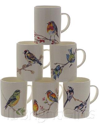Roy Kirkham British Garden Birds Coffee Mugs