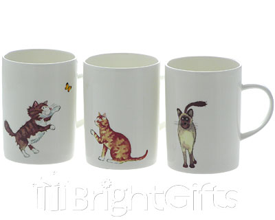 Roy Kirkham Cat Coffee Mugs