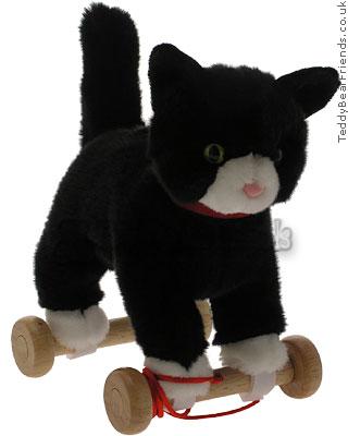 Teddy Hermann Cat on Wheels