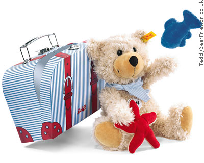 Steiff Charly Teddy Bear in Suitcase