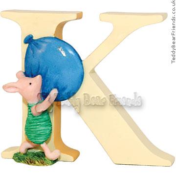 Border Fine Arts Classic Winnie the Pooh Alphabet Letter K