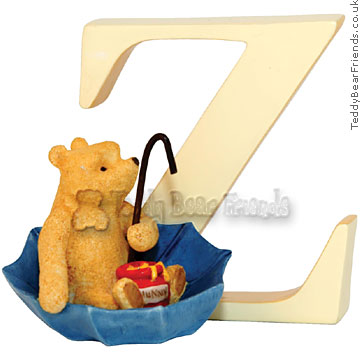 Border Fine Arts Classic Winnie the Pooh Alphabet Letters Z
