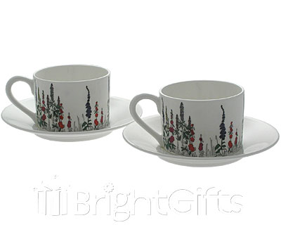 Roy Kirkham Cottage Garden Teacups And Saucers