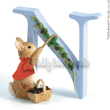Border Fine Arts Cotton Tail Letter N
