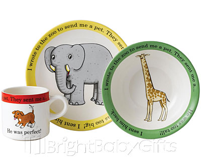 Dear Zoo Dear Zoo Ceramic Nursery Set