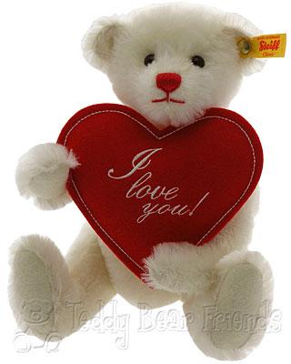 Steiff Fabian I Love You Teddy Bear