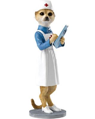 Country Artists Nurse Florence Meerkat Figurine
