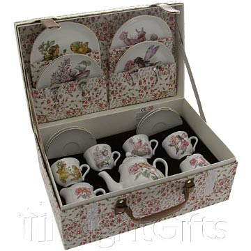 Reutter Porcelain Flower Fairies Childrens Teaset in Case