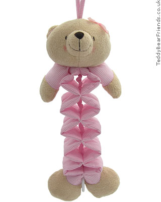 Rainbow Designs Forever Friends Musical Pink Bear