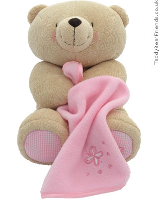 Rainbow Designs Forever Friends Bear With Blanket Pink