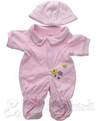 Teddy Bear Clothes Shop Girl Babygro For Teddy Bear
