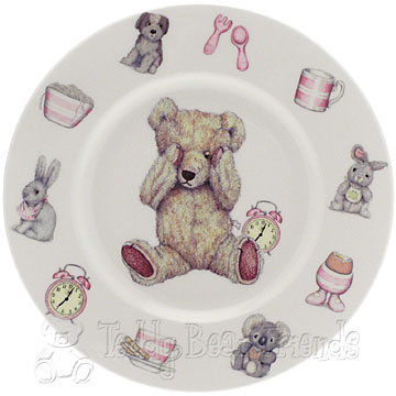 Roy Kirkham Teddy Time Girls Plate