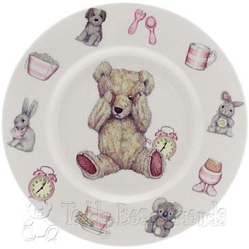 Roy Kirkham Teddy Time Girls Plate