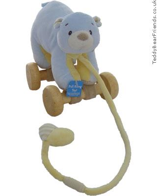 Baby Gund Little Tones Blue Bear Pull Toy