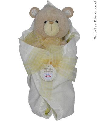 Baby Gund Bear Tales Yellow Blanket Bear