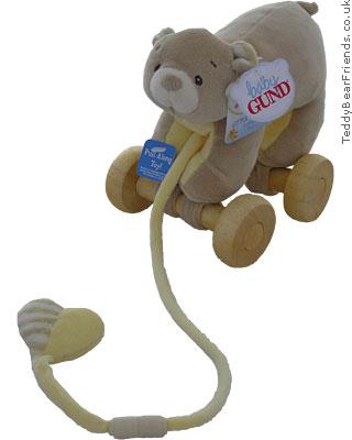 Baby Gund Little Tones Baby Bear Pull Toy