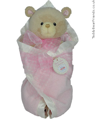 Baby Gund Bear Tales Girl Blanket Bear