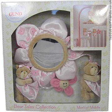 Baby Gund Bear Tales Pink Bear Musical Mobile