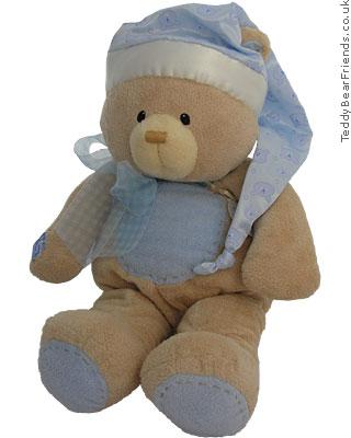 Baby Gund Bear Tales PJ Bear Bag Blue