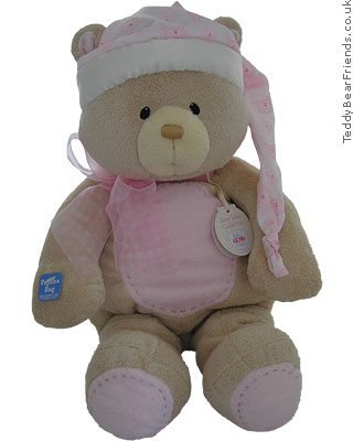 Baby Gund Bear Tales PJ Bear Bag Pink
