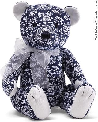 Gund Florence Blue Paisley Bear