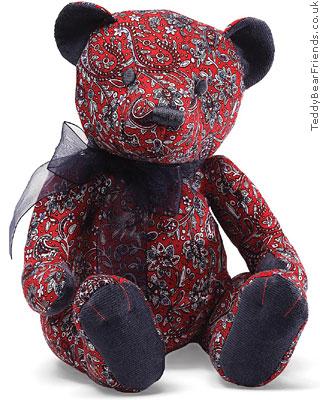Gund Rosemary Red Paisley Bear