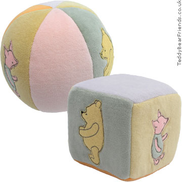 Gund Winnie the Pooh baby cube and ball set
