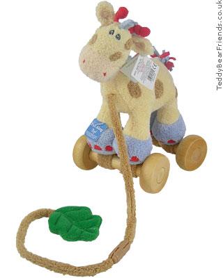 Baby Gund Woodles Gazoo Giraffe Pull Toy