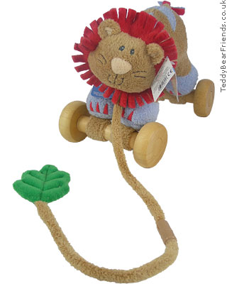 Baby Gund Woodles Rumba Lion Pull Toy