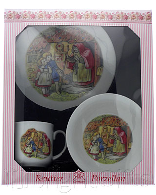 Reutter Porcelain Hansel and Gretal Nursery Set