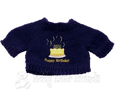 Teddy Bear Clothes Shop Happy Birthday Jumper For Teddy Bear