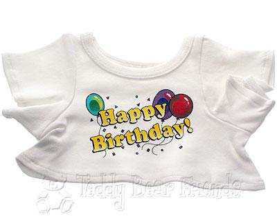 Teddy Bear Clothes Shop Happy Birthday T-Shirt For Teddy Bear
