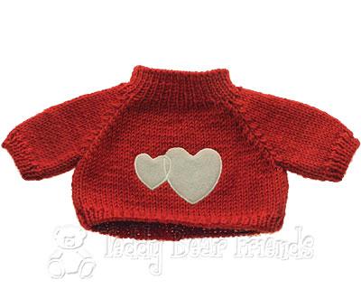 Teddy Bear Clothes Shop Heart Sweater For Teddy Bear