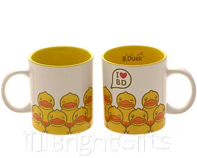 Rainbow Designs I Love B Duck Mugs