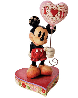 Disney Traditions I Love You Mickey Mouse Figurine