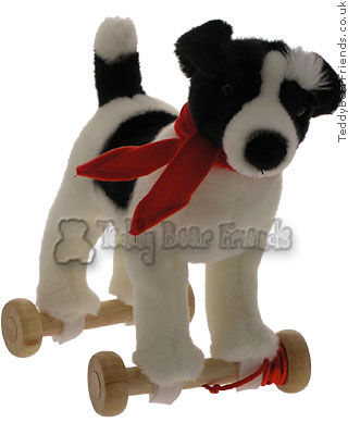Teddy Hermann Jack Russell on Wheels