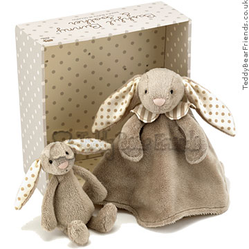 Jellykitten Bashful Bunny and Soother Boxed