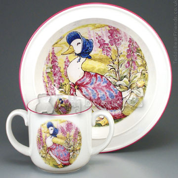 Reutter Porcelain Jemima Puddleduck Baby Set