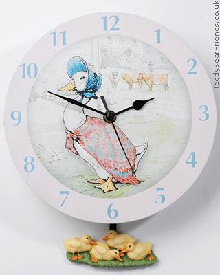Border Fine Arts Jemima Puddleduck Clock