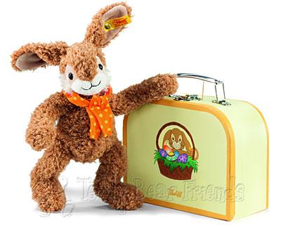 Steiff Jolly Rabbit in Suitcase