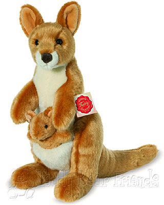Teddy Hermann Kangaroo And Joey