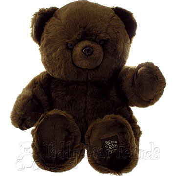 Histoire d'Ours Large Dark Brown Teddy Bear