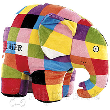 Rainbow Designs Large Elmer Elephant