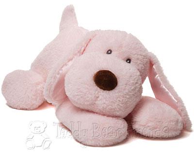 Baby Gund Large Pink Puppy Dog Soft Toy